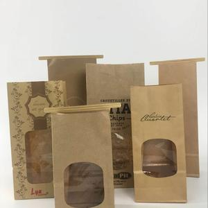 Kraft Paper Bag with Window and Tin Tie