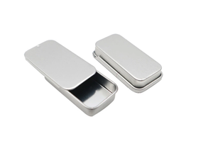 Foodgrade Small Pocket Tin Sliding Metal Box Slide Tin Container