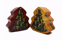 Tree shape christmas gift tin box for candy packaging