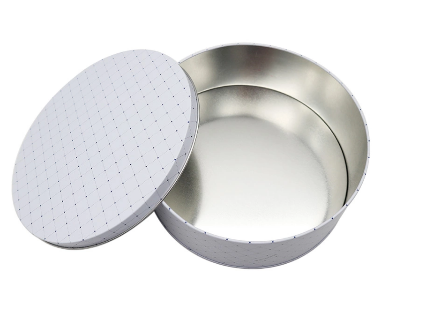 food grade customized big round cookie tin box round tin can cake gift metal packaging tin box
