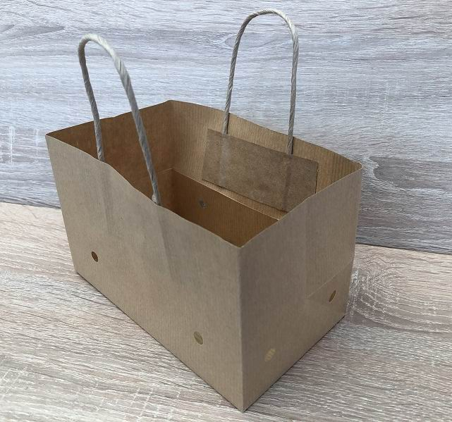 striped kraft paper grape bag