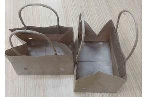 Wet Strength Cherry Tomato Paper Bag With Ventilation And Brown Handle