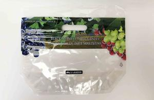 Printed Plastic Table Grape Packaging Bag With Zipper
