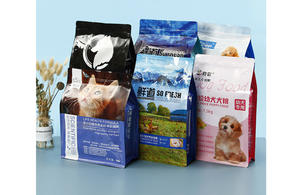 Customized Block Bottom Bag For Cat Food Packaging With Zipper