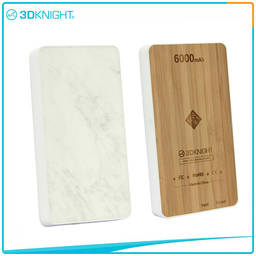 Wood Power Bank 6000mah Wood Protable Charger