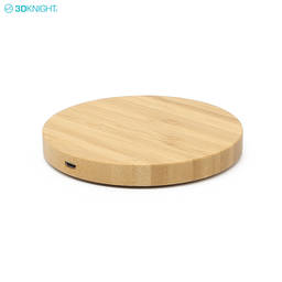 OEM Custom Wooden Qi Wireless Mobile Phone Battery Chargers With FCC CE ROHS