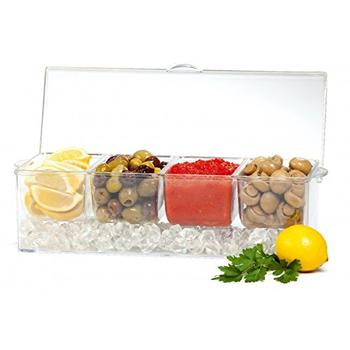 4 in 1 Removable Chilled Condiment Server On Ice itemprop=