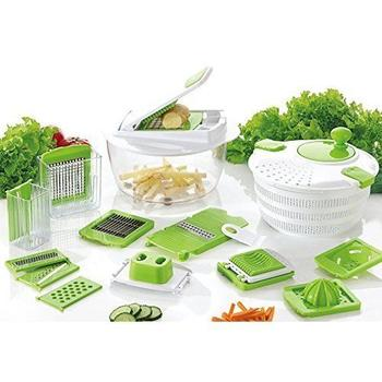 Salad Spinner With Mandoline Slicer And Chopper itemprop=