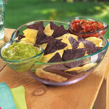 Chip and Dip Bowl Salad Bowl Snack Bowl Set itemprop=