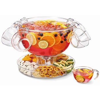 Multifunctional Punch Bowl With Four Punch Cups  itemprop=