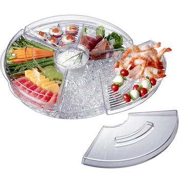 Chilled Appetizer Server With Ice Tray  itemprop=