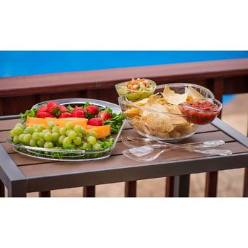 Chip And Dip Salad Fruit Bowl Serving Tray itemprop=