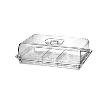 Portable 3 Section Dividers Serving Tray  itemprop=