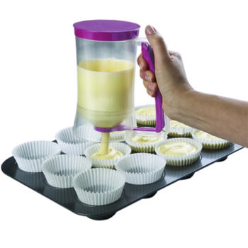 Cake Batter dispenser with measuring label itemprop=