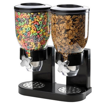 Double Bulk Dry Food Cereal Dispenser itemprop=