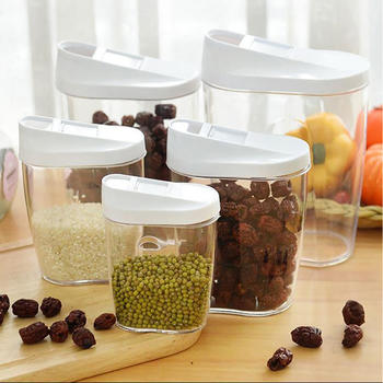 Plastic Food Storage Jars Canister Set Storage Container itemprop=