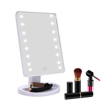 Smart touch LED Makeup Mirror-16 LED Lighted Makeup Mirror Large led mirror itemprop=