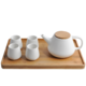 Ceramic Teapot Set, Porcelain Teapot with 4 Tea Cups
