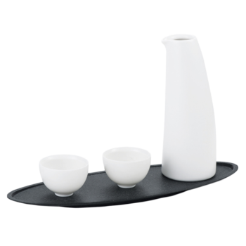 White Ceramic Sake Bottle Set,Ceramic Wine Pot,Porcelain Sake Set with 2 Cups  itemprop=