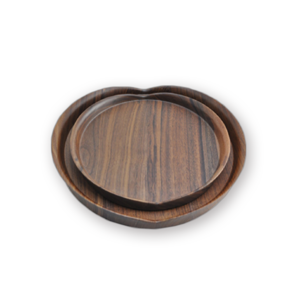 Wood Serving Tray, Black Walnut Food Serving Tray,Decorative Tray