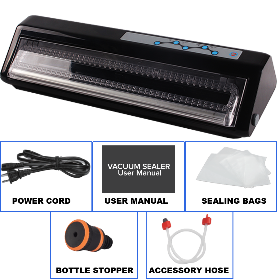 Vacuum Sealer,Food Saver Meat Vacuum Sealer with Sealing Bags