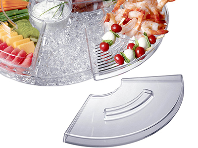 Chilled Appetizer Server With Ice Tray