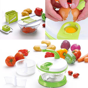 Multifunctional 4 in 1 Hand-Powered Vegetable Mixer And Slicer