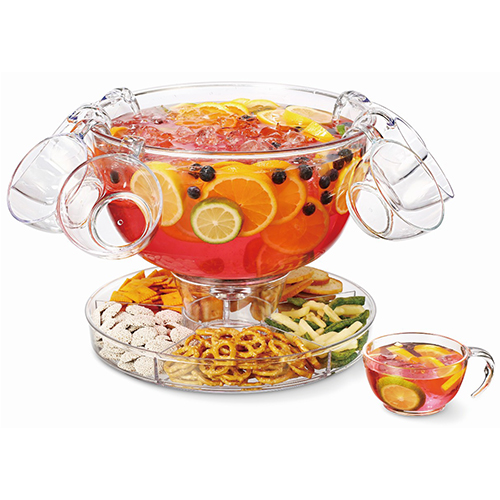 Multifunctional Punch Bowl With Four Punch Cups