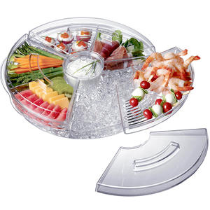 High quality Chilled Appetizer Server With Ice Tray Icy Appetizer Server