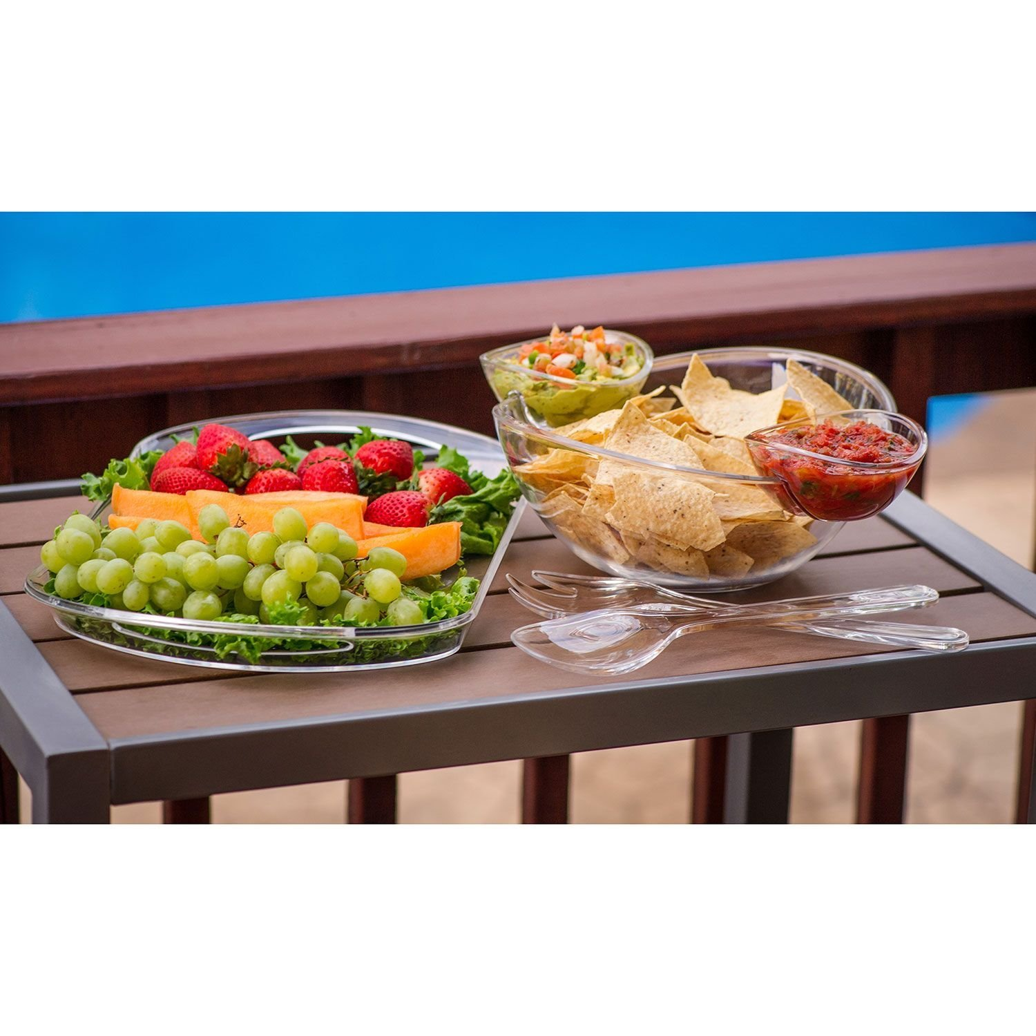 Chip And Dip Salad Fruit Bowl Serving Tray