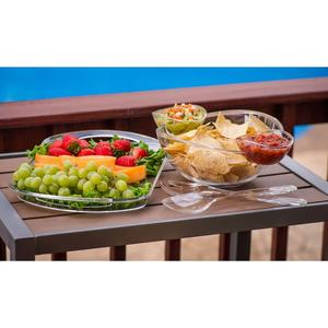 Multifunctional Chip And Dip Salad Fruit Bowl Serving Tray,Clear salad bowl