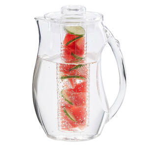 Ice Fruit Infusion Pitcher, Clear Tea Fruit Infusion Pitcher