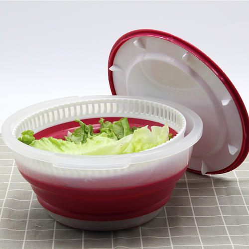 Collapsible salad spinner,Vegetable dryer spinner