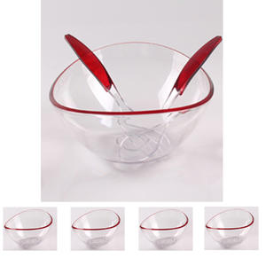Multifunctional Salad bowl with 4pcs small food bowls and servers,