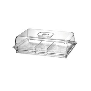 Multifunctional Portable 3 Section Dividers Serving Tray