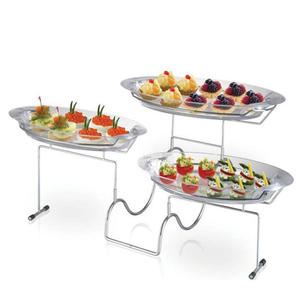 Multifunctional 3-Tier Blossom Dessert Tray-cake stand wedding plastic tray