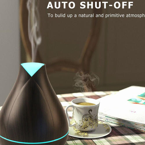 Wood Grain Ultrasonic Cool Mist Humidifier Aroma Diffuser