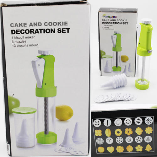 Cake Dessert Decorator Cookie press with 6pcs nozzles and 13pcs mould