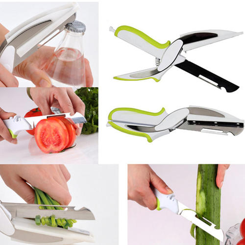 4 in 1 clever cutter-Food Chopper Cutter,Knife and Scissors
