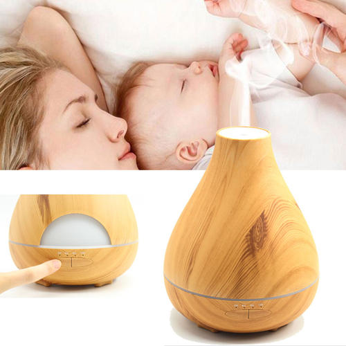530ml Aromatherapy Wood Grain Humidifier Essential Oil Diffuser