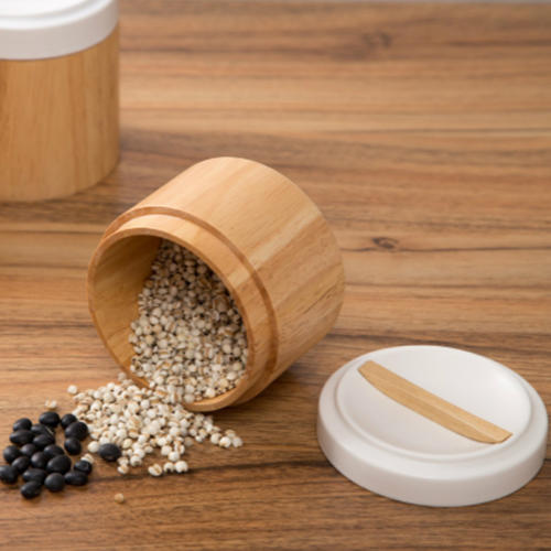 Ceramic Lid Nut Coffee Tea Canisters Food Storage Container