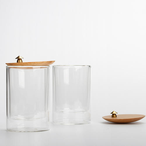 Glass Tea Cup with a Bamboo Lid ,Glass Mug, Water Cup,Coffee Cup